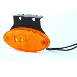 FEU SIDE-MAKER ORANGE LED + ÉQUERRE 12/24 V - CABLÉ 1M