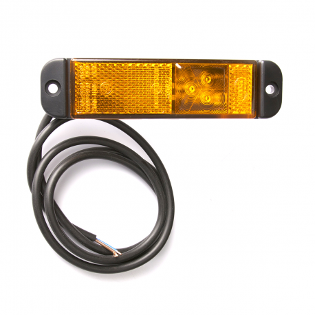 FEU LED ORANGE ULTRA PLAT 24 V